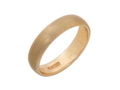 18ct Yellow Gold Wedding Band 4.5mm Uk Size M
