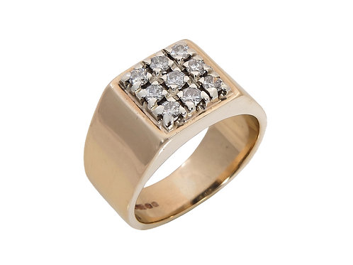 Gents 9ct Yellow Gold Ring 0.27ct