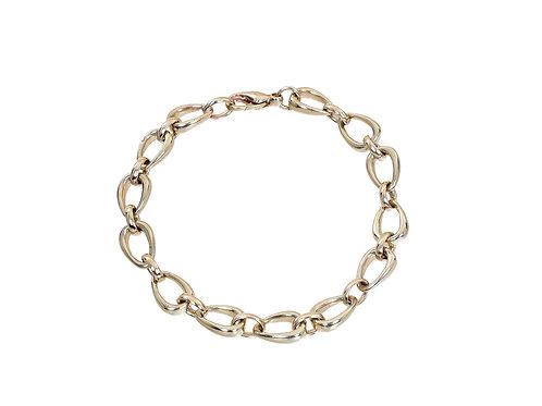 9ct Yellow Gold Ladies Fancy Oval Bracelet 17.2g
