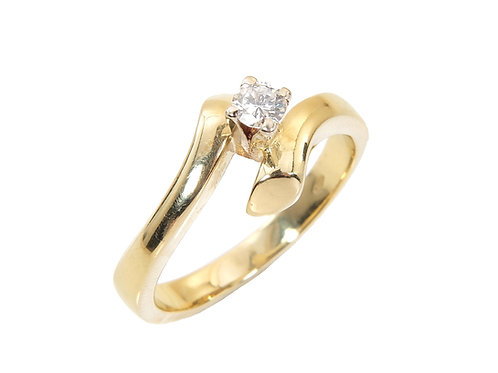 18ct Yellow Gold Diamond Solitaire Ring 0.20ct