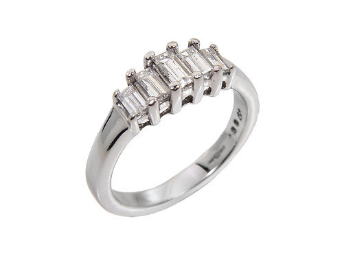 18ct White Gold Contemporary Diamond Ring 0.80ct