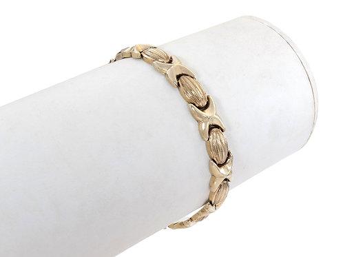 9ct Gold Unusual Link Bracelet 8.9g