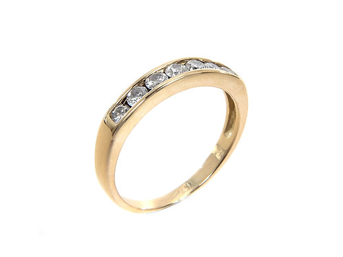 18ct Yellow Gold Half Eternity Ring 0.50ct