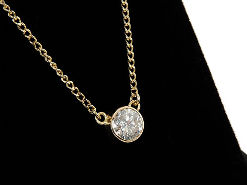 18ct Yellow Gold Diamond Solitaire Necklace 1.00ct