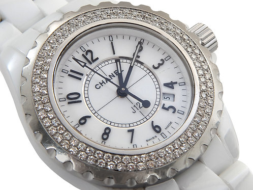 Chanel J12 Stainless Steel & Ceramic Watch White 34mm