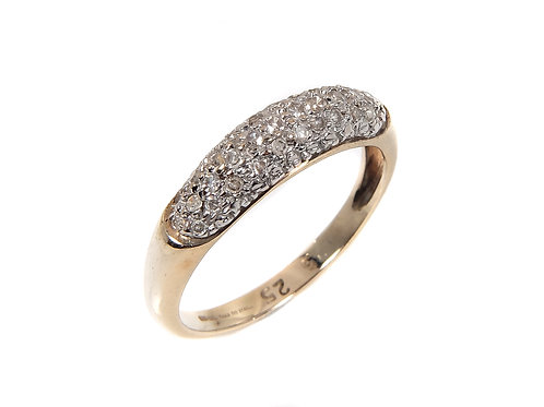 9ct Yellow Gold Diamond Cluster Ring 0.25ct