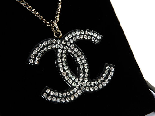 Chanel Large CC Crystal  Pendant & Chain
