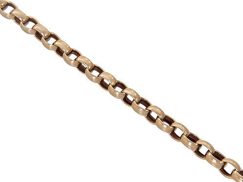 9ct Gold Oval Plain Belcher Chain 9g
