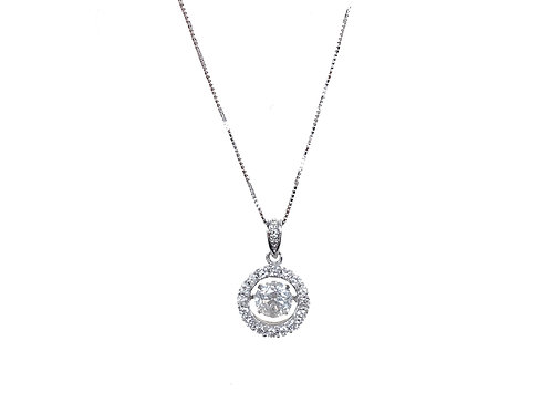 14ct White Gold Floating Diamond Necklace 0.57ct