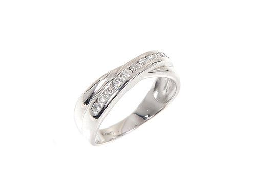 9ct White Gold Diamond Ring 0.25ct