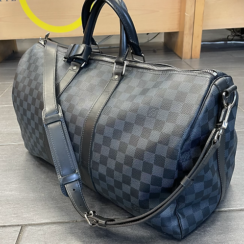 Louis Vuitton keepall Bandouliere 45 in Damier Cobalt Blue