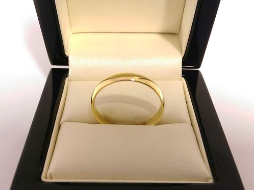 14ct yellow gold wedding band 3.5 mm Uk size T