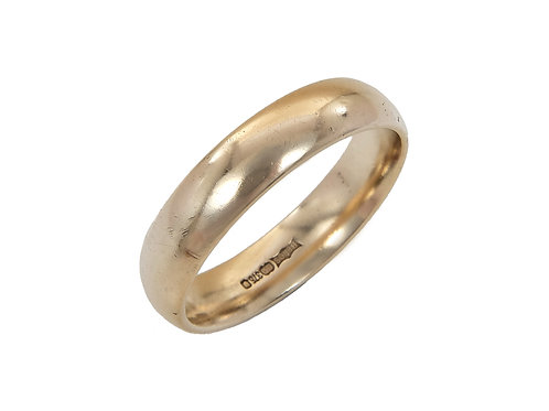 9ct Yellow Gold Gents Wedding Ring Uk Size S Width 5mm