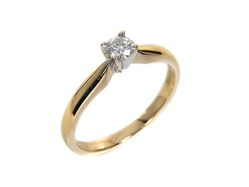 18ct Yellow Gold Diamond Solitaire Ring 0.25ct