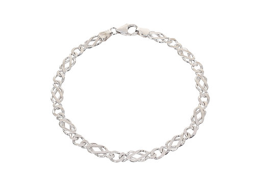 9ct White Gold Celtic Link Bracelet 6.3g