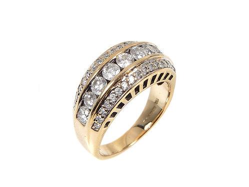 18ct Yellow Gold 1.5ct Diamond Dress Ring