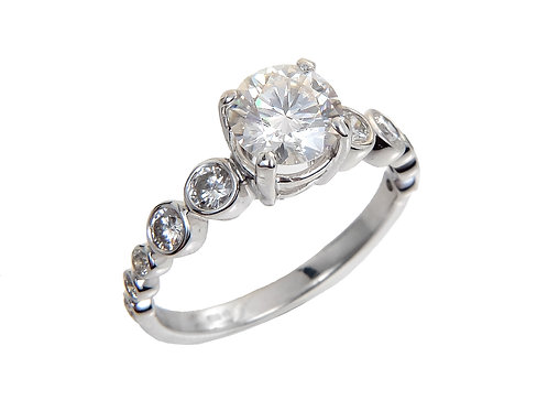 18ct White Gold Diamond Solitaire Ring 1.10ct