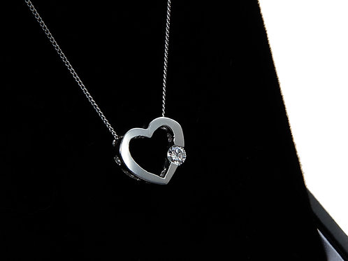 Fine Platinum Diamond Necklace 0.10ct