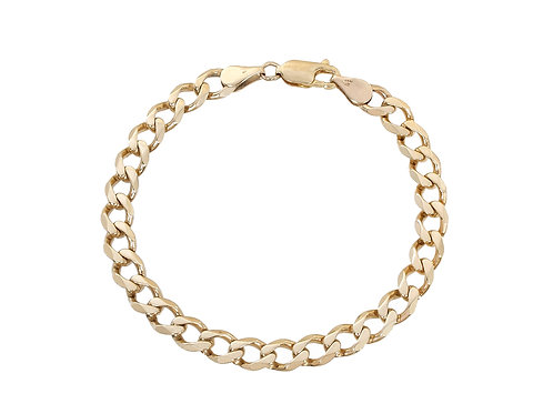 9ct Gold Curb Bracelet 12.1g