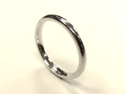 Ladies Platinum Wedding Ring  Uk size I