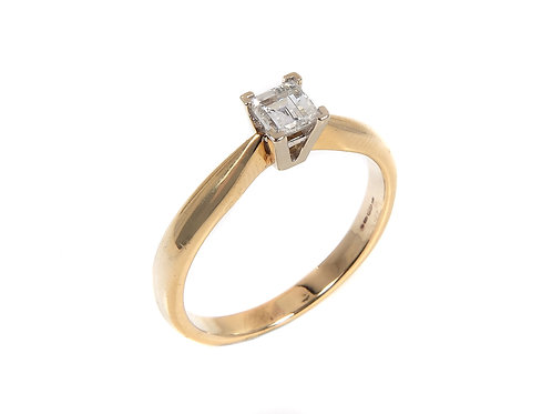 18ct Yellow Gold Diamond Solitaire Ring 0.27ct