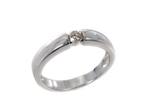 18ct White Gold Diamond Solitaire Ring 0.15ct