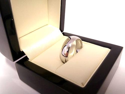 18ct white gold wedding Ring  6.2mm