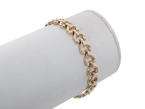 9ct Gold Unusual Link Bracelet 9.5g