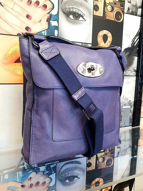 Mulberry Antony Cross Body Bag in Purple