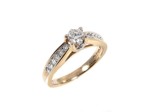 14ct gold 1/3rd of a carat diamond solitaire ring