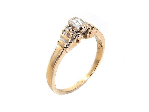 18ct Yellow Gold Millennium Diamond Ring 0.25ct