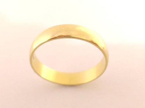 18ct yellow gold wedding ring uk size N
