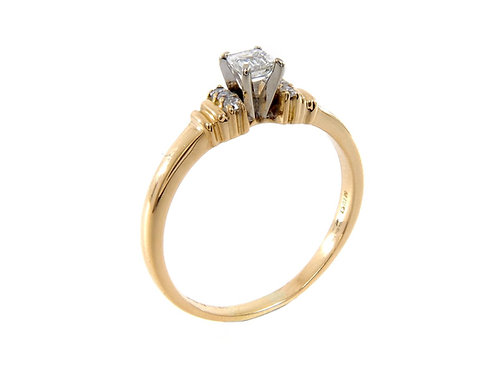 18ct Yellow Gold Mellennium Diamond Ring 0.26ct