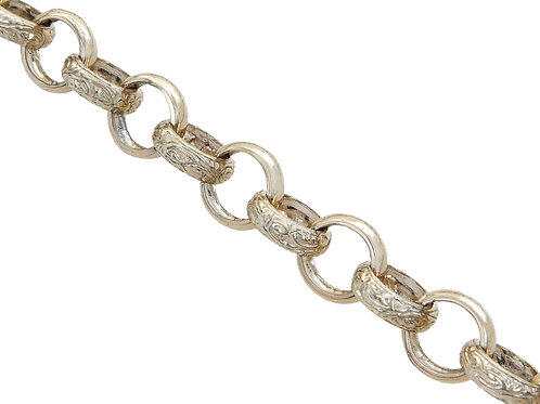 9ct Yellow Gold Plain and Patterned Belcher Chain 76.9g