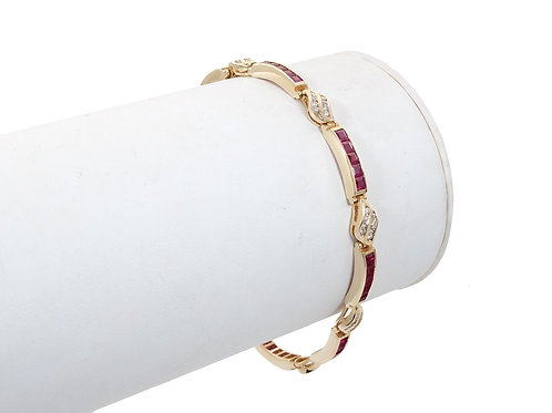 18ct Ruby & Diamond Bracelet 3.10ct
