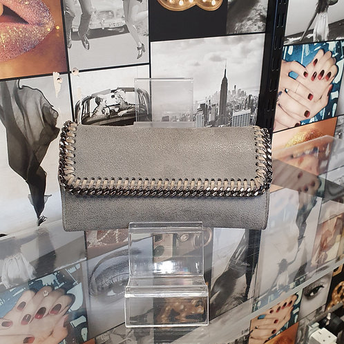 Stella McCartney Falabella Wallet Purse in Stone Grey