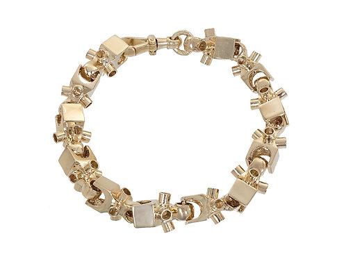9ct Gold Lego Bracelet 57.8g