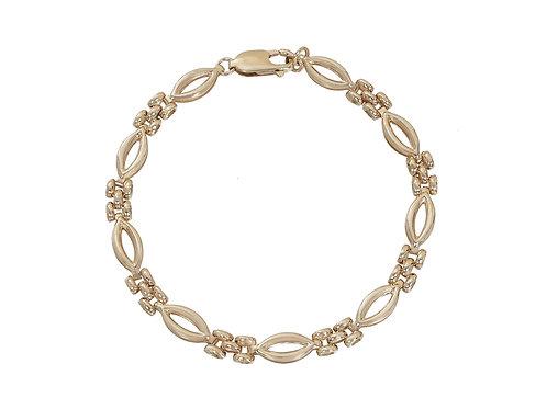9ct Gold Fancy Link Bracelet 6.4g