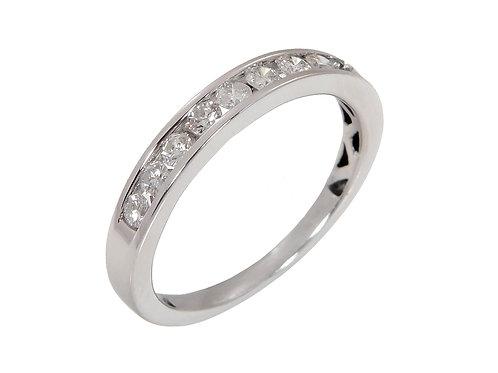 18ct White Gold Diamond Half Eternity Ring 0.27ct