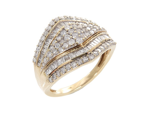 9ct Yellow Gold Diamond Ring 1.20ct