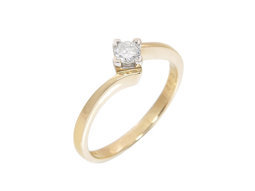 18ct Yellow Gold Diamond Solitaire Ring 0.22ct