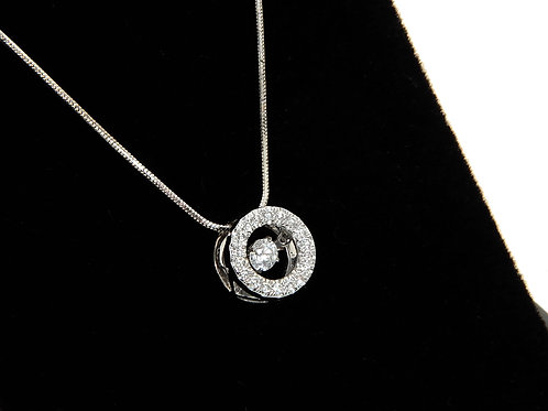 18ct White Gold Floating Diamond Necklace 0.25ct