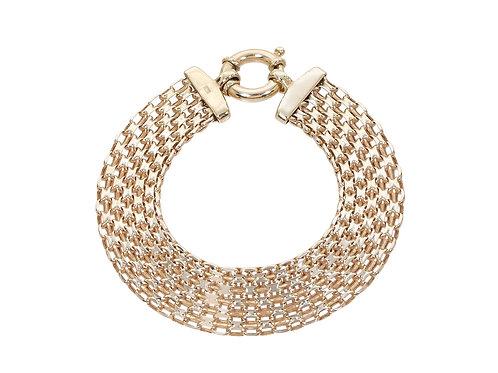 9ct Yellow Gold Ladies Panther Bracelet 10.2g