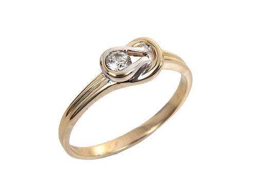 9ct Yellow & White Gold Diamond Ring 0.16ct