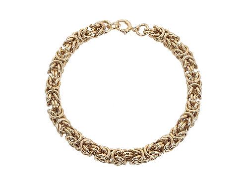 9ct Gold Byzantine Bracelet 31.8g