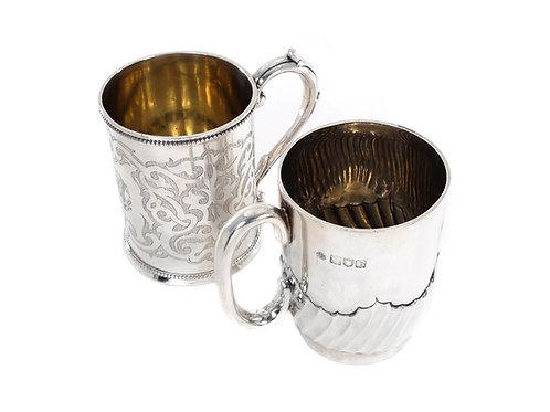 Sterling Silver Christening Mugs