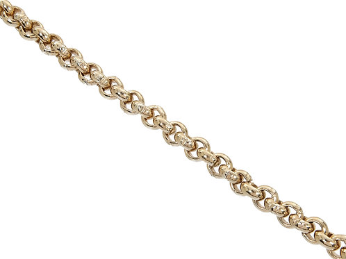 9ct Gold Plain Belcher Chain 85.1g