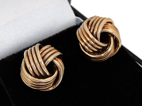 9ct Yellow Gold Large Knot Earrings