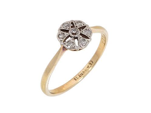 18ct Yellow Gold  Edwardian Diamond Ring