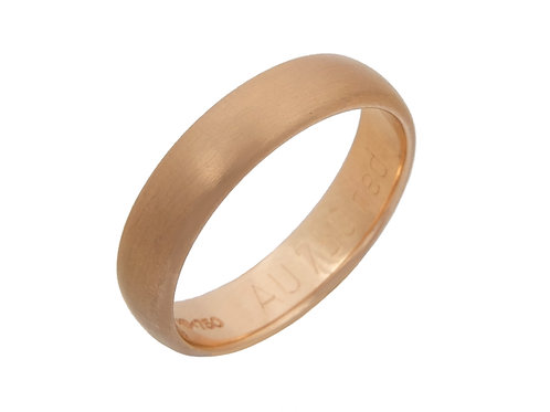 18ct Yellow Gold Wedding Ring 4.5mm Uk Size M.1/2